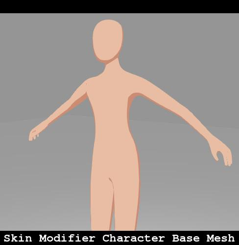 Skin Modifier Character Base Mesh preview image