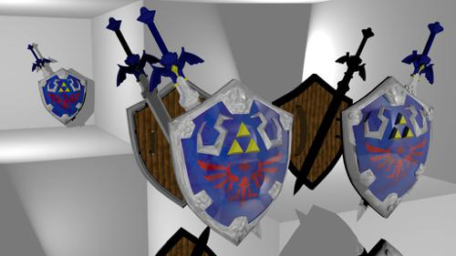 The Master Sword and Hylian Shield from LOZSS preview image
