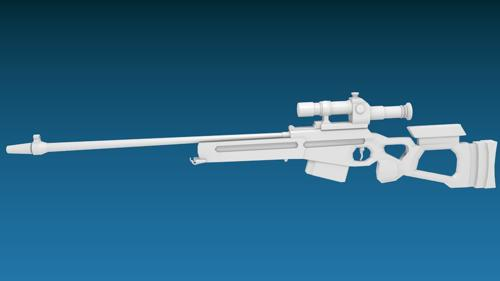 SV-98 Sniper Rifle- Low Poly  preview image