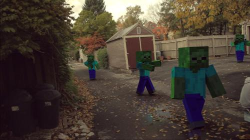 Minecraft Steve/Zombie  cycles/internal preview image