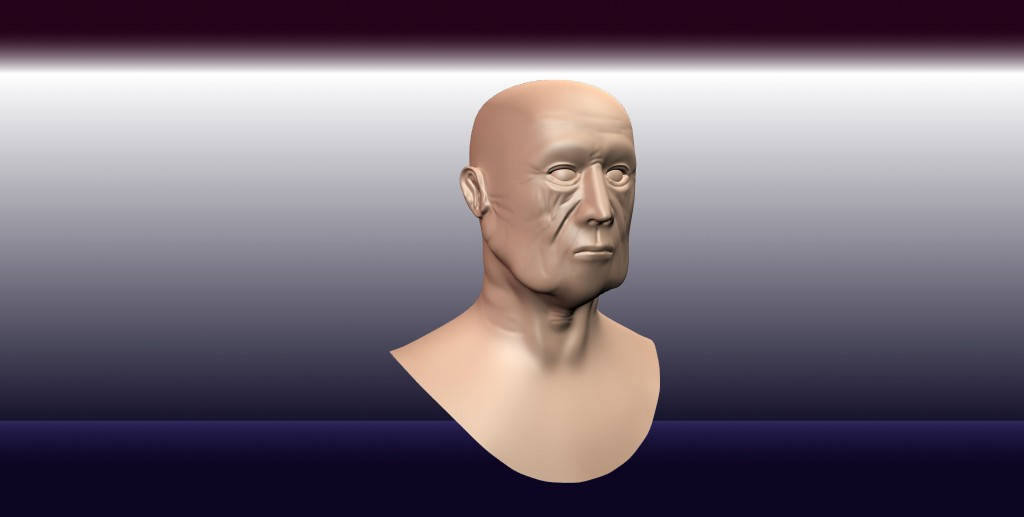 Realistic Old Man Head preview image 1