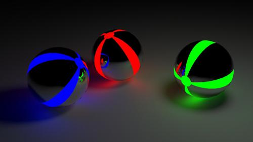Glowing Christmas Balls preview image