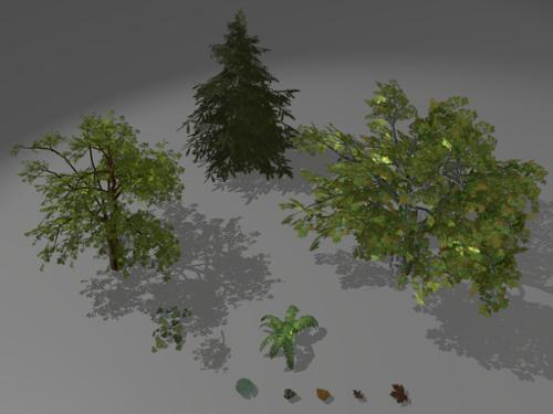 Low-poly foliage preview image