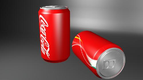 Soda Can - Low poly preview image