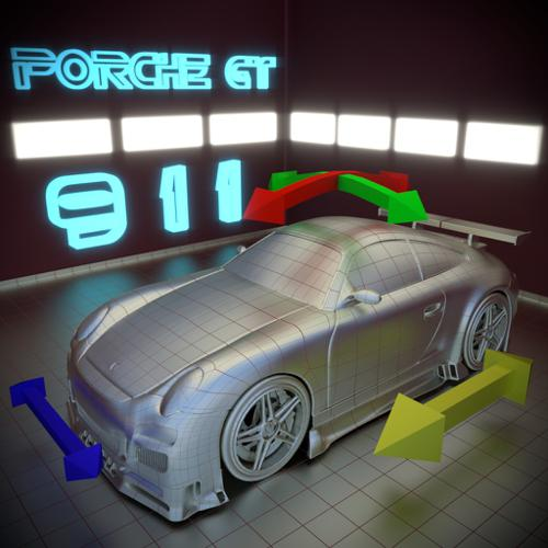 Porche GT - Rigged preview image
