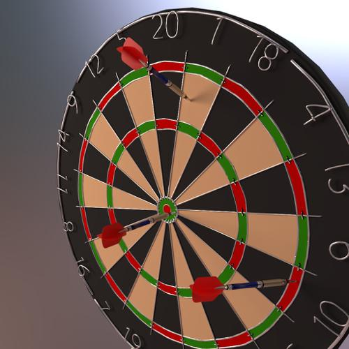 Dart board with darts preview image