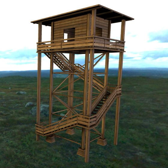 Wooden Watch Tower preview image 4