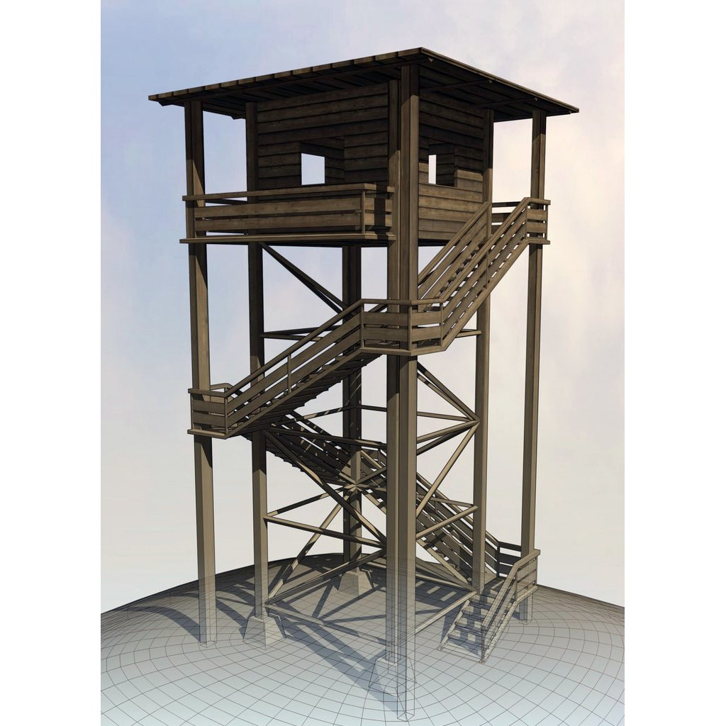 Wooden Watch Tower preview image 2