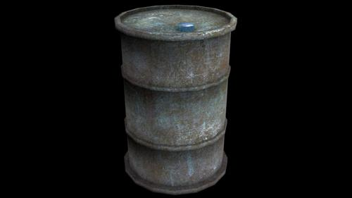 Old rusty barrel preview image