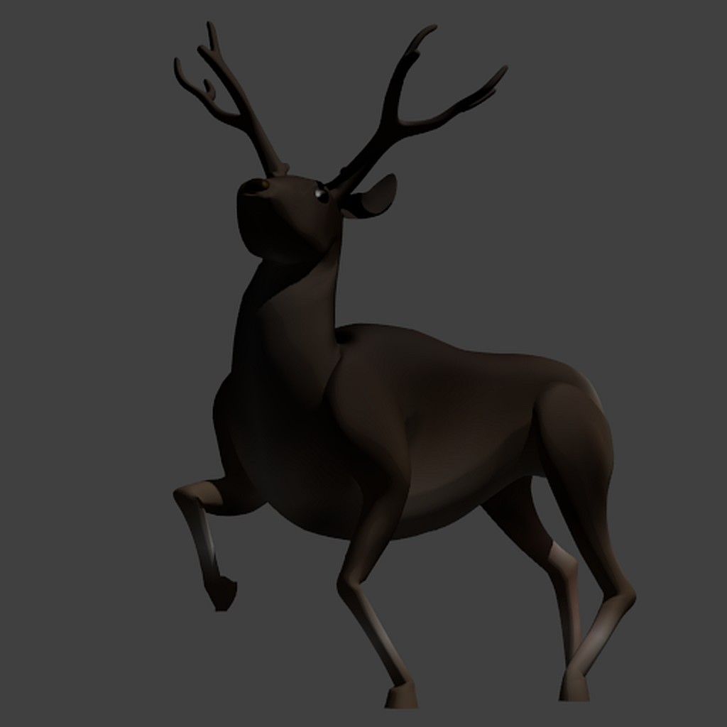 Deer - Stag - Low Poly preview image 1