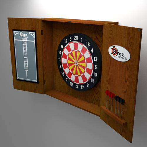 Dart Board with Case preview image