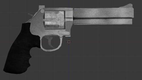 Top Break Revolver Textured 1542 faces preview image