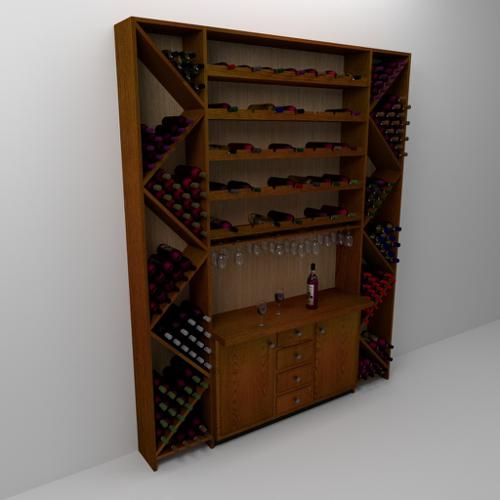 Wine Rack and Cabinet preview image