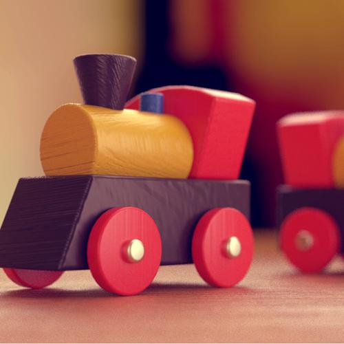 Wooden Toy Train preview image