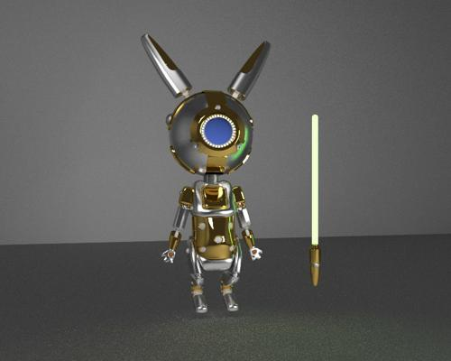 Golden Bot Bunny  preview image