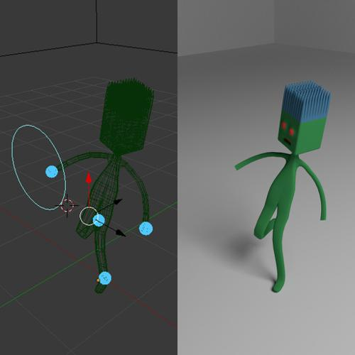 Simple Guy with Easy IK Rig w/ Look Target preview image