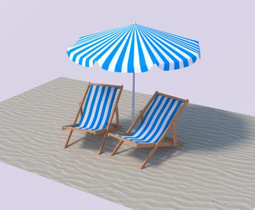 Beach Chairs Set preview image