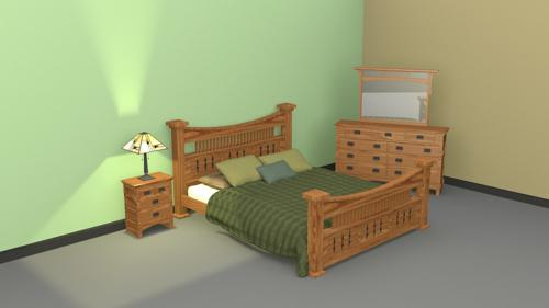 Mission Style Bedroom Set preview image