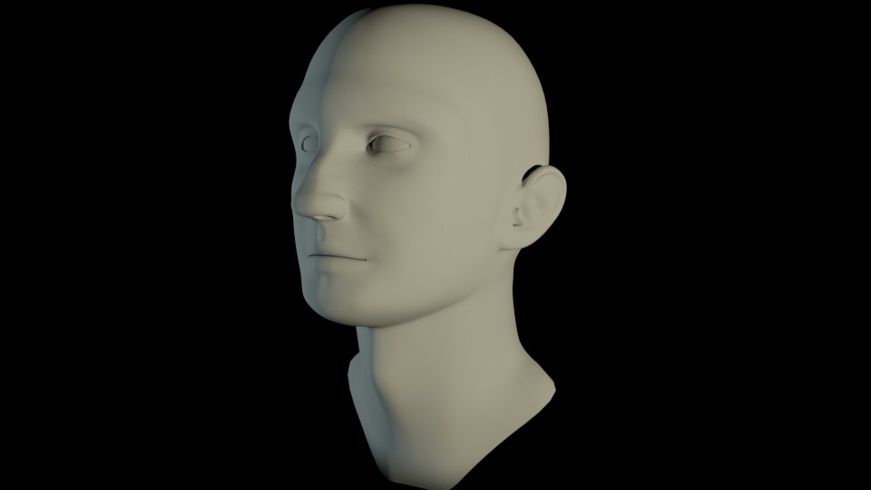 Male Head V4 preview image 2