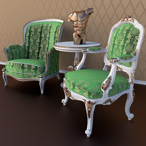 Antique Chairs set preview image