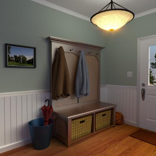 Coat Rack and Bench preview image