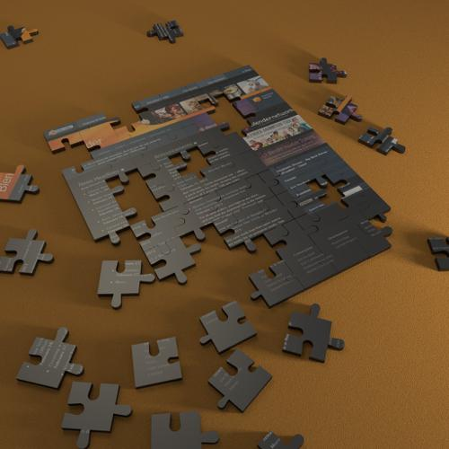 Blender puzzle in cycles (customizable) preview image