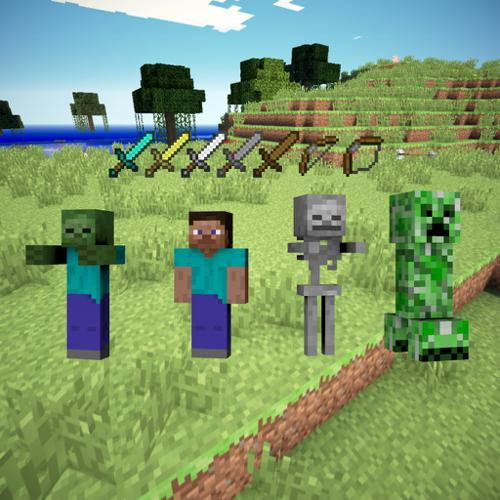 Minecraft Mob (Rigged) & Weapon Collection  preview image
