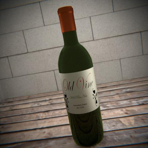 Red Wine Bottle preview image