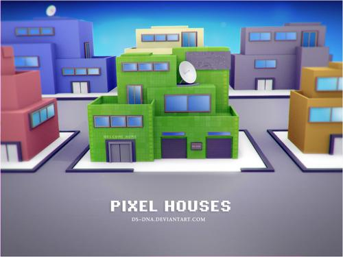 Pixel houses preview image