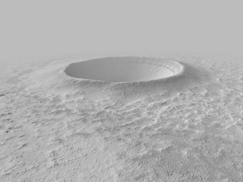 Fresh impact crater preview image