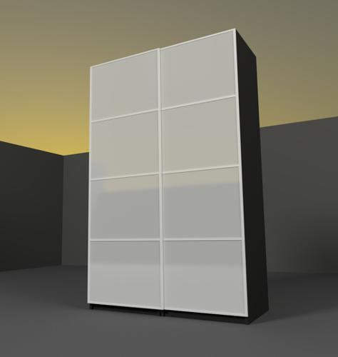 Wardrobe with sliding doors IKEA PAKS preview image