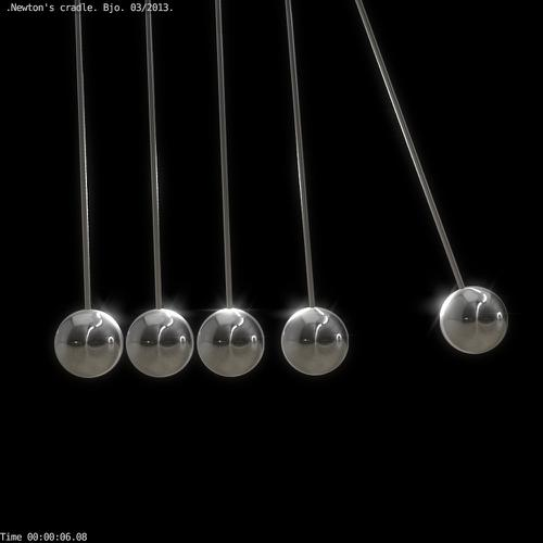 Newton's cradle animated preview image