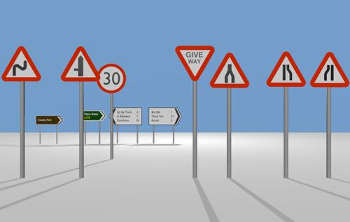 UK Road Signs - Pack 1 UPDATED VERSION preview image