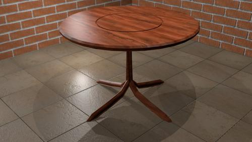 Wooden Table (low poly) preview image