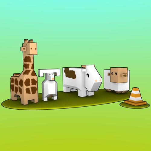 Low poly animals preview image