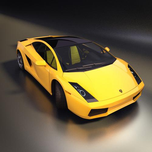 Lamborghini Gallardo + Interior + Cycles preview image