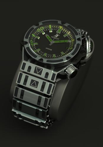 Watch HUBLOT Diver 4000 preview image