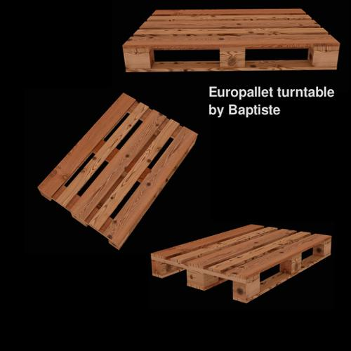Europallet turntable Game Asset preview image