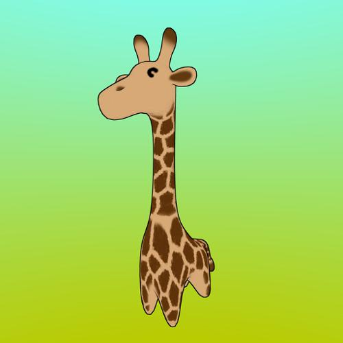 Girafe-lowpoly-with-basic-rig preview image