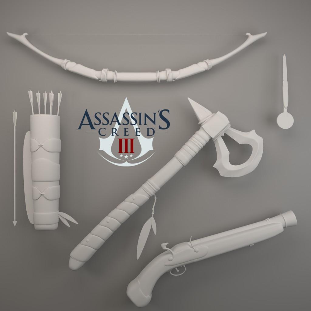 Blend Swap Assassin S Creed Iii Weapon Set