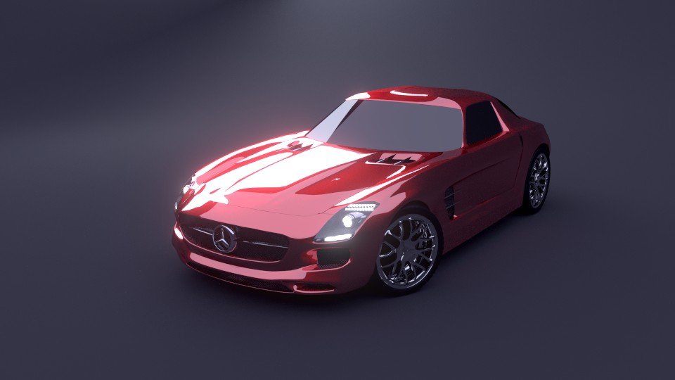 Mercedes SLS AMG : Rigged preview image 1