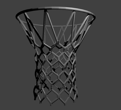 Basketball net and rim preview image