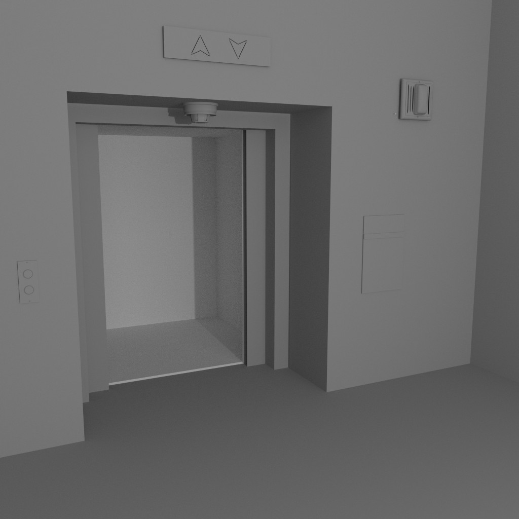elevator at the end of the hall preview image 1