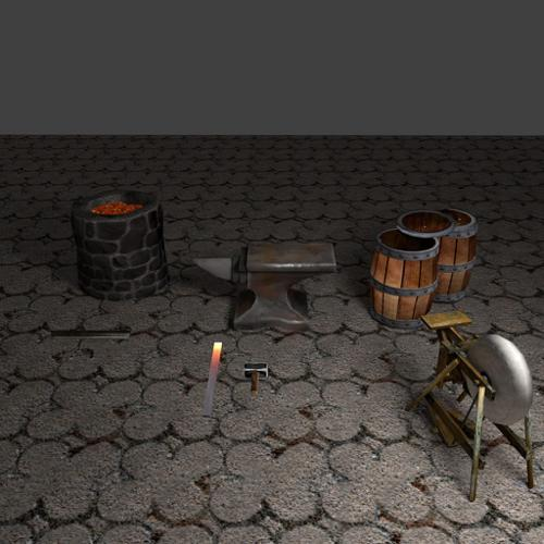 Blacksmith' Tools set preview image