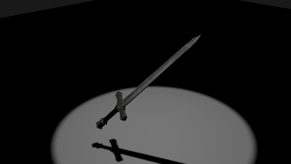 Low poly sword ( textured ) preview image 1