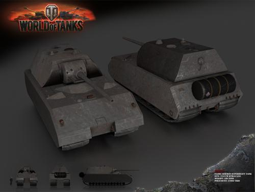 Maus SuperHeavy Tank - Lowpoly Model preview image