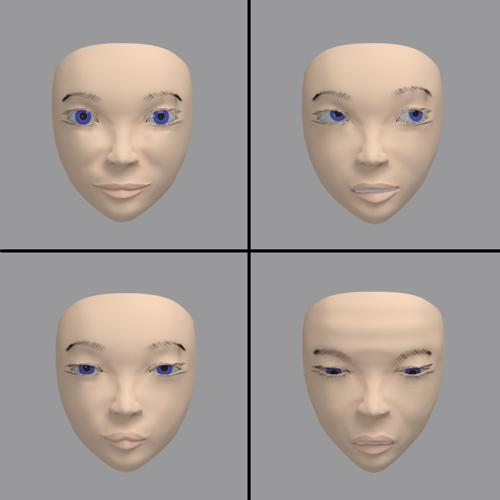 Free basic female face rig preview image
