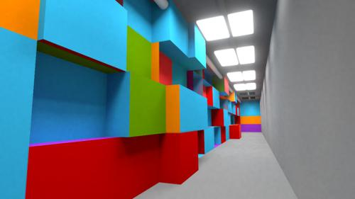 Colorful corridor preview image