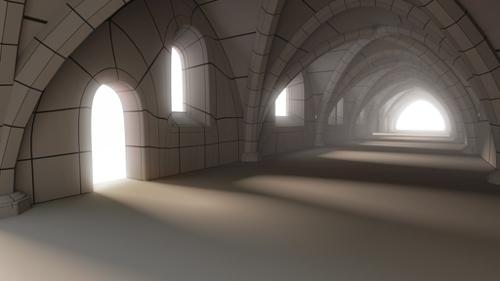 Environment Building Medieval Hallway preview image