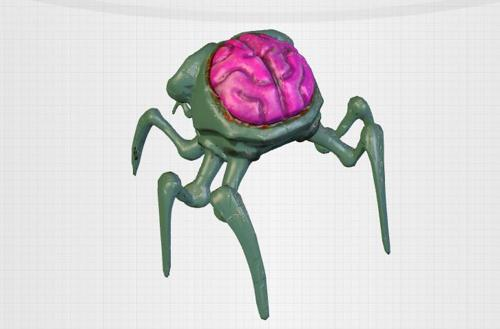 Walking head spider preview image